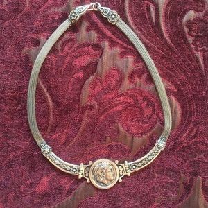 Jewelry - Vintage sterling silver coin collar necklace
